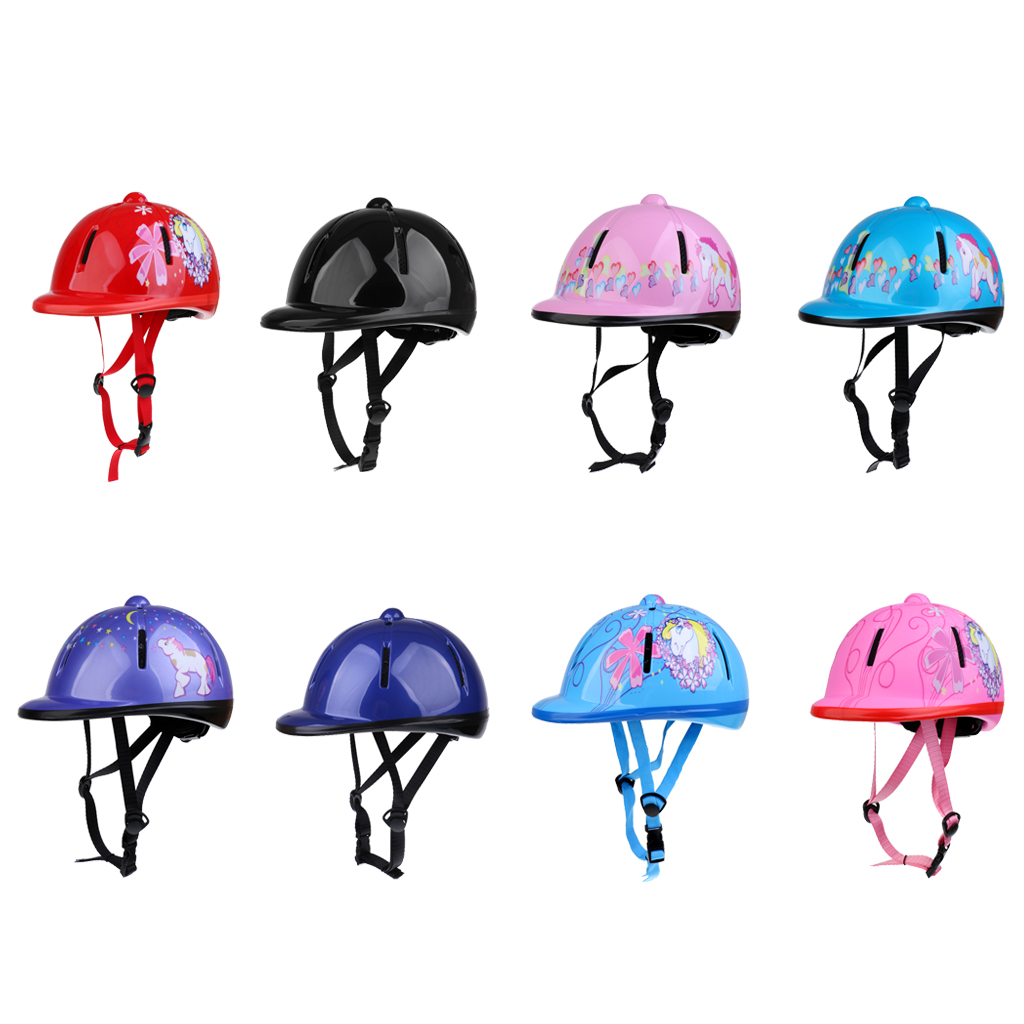 Kids/Children Schooling Helmet Adjustable Toddlers Horse Riding Helmet Young Equestrian Riders Head Protective Gear SEI