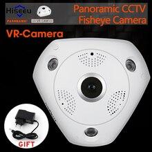 HD WiFi de la Cámara Panorámica de 360 Grados e-ptz Fisheye Onvif IR-CUT de Red IP CCTV Cámara de Vídeo de Almacenamiento Remoto de Audio-en P2 Hiseeu