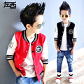 Male child outerwear child 2017 spring baseball uniform children's clothing child spring and autumn jacket