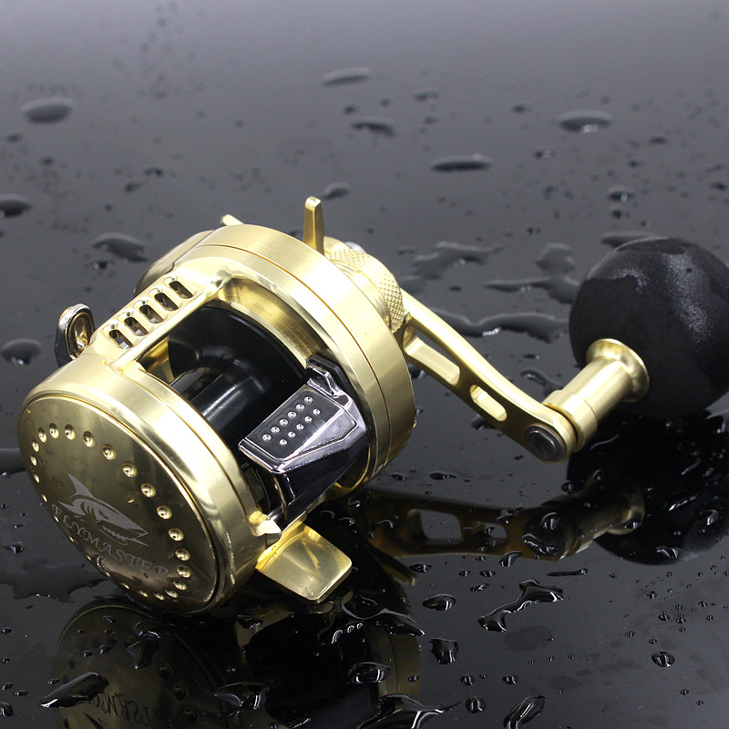 RG 6.2:1 9+1BB Baitcasting Drum Saltwater Fishing Reel Saltwater Sea Fishing Reels Bait Casting Surfcasting Drum Reel HG200 scarlett sl je51s02