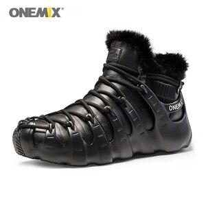 Image 5 - Gorące Onemix zimowe męskie buty trekkingowe antypoślizgowe buty do chodzenia wygodne ciepłe odkryte trampki dla kobiet buty zimowe