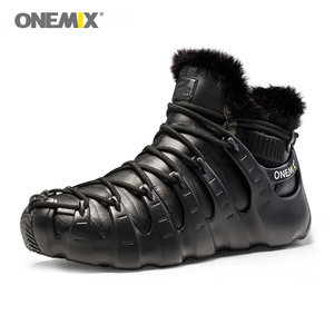 Image 5 - Hot Onemix Winter Mens Trekking Shoes Anti Slip Walking Shoes Comfortable Warm Outdoor Sneakers For Women Winter Keeping Shoes