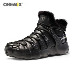 Image 5 - حار Onemix الشتاء الرجال حذاء ارتحال مكافحة زلة أحذية مشي مريحة الدافئة في الهواء الطلق أحذية رياضية للنساء الشتاء حفظ الأحذية