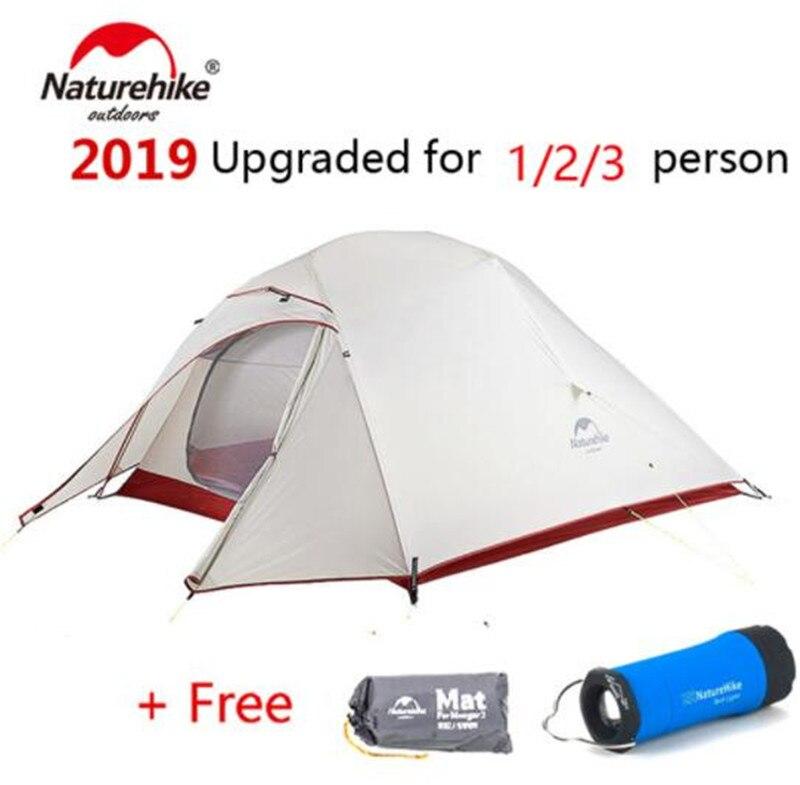 NatureHike Nuage Up 1 2 3 Personne Tente Ultra-Léger 20D Silicone Tissu Tentes tente de camping D'hiver En Plein Air tente de camping Avec Tapis - 2
