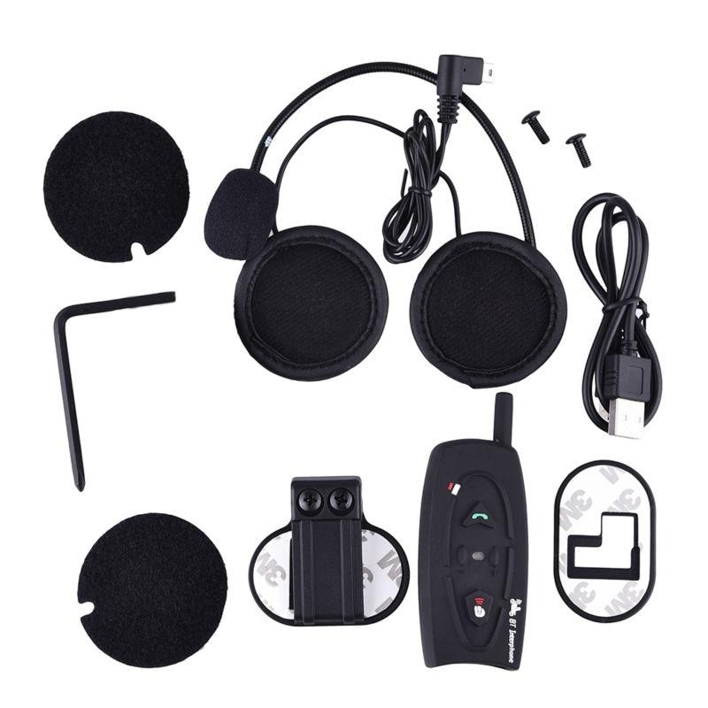 ФОТО Motorbike 2 Riders 500M Bluetooth Wireless Helmet Intercom Headsets Motorcycle Interphone Headsets Intercomunicador Motocicleta
