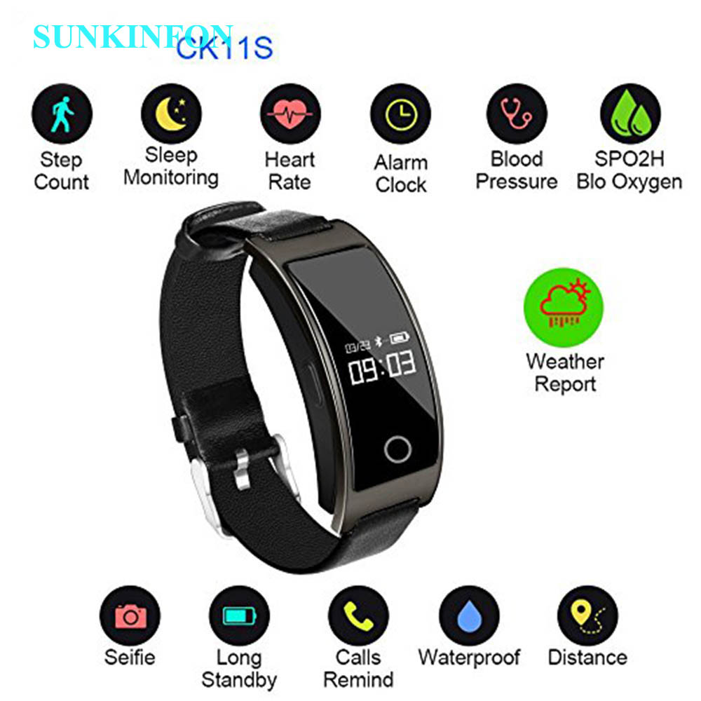 CK11S Smart Band Blood Pressure Heart Rate Monitor Wrist Watch Intelligent Bracelet Fitness Bracelet Tracker Pedometer Wristband bluetooth smart wrist watch blood pressure watches bracelet heart rate monitor smart fitness tracker wristband for android ios