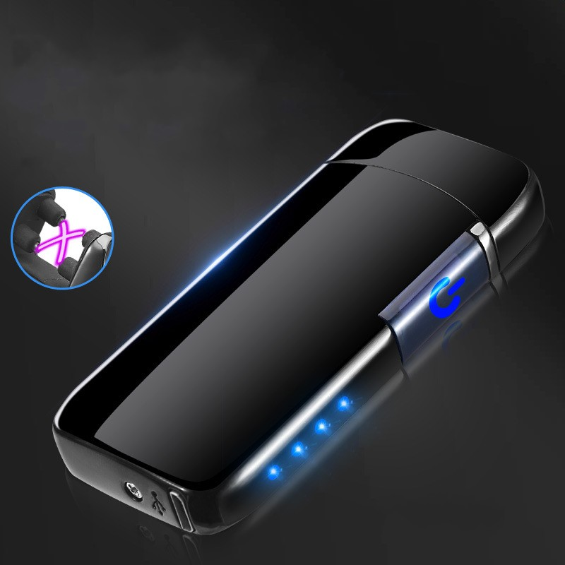 High Quality Plasma Lighter Twin Arc With Touch Screen Sensor USB Rechargeable