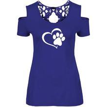 Super cute Heart & Paw women's lace blouse
