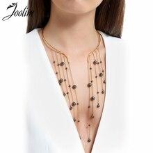 JOOLIM Jewelry Wholesale/Chain Tassel Pendant Cuff Choker Necklace Waterfall Necklace Statement Jewelry Stylish stylish coin fringe metal choker necklace