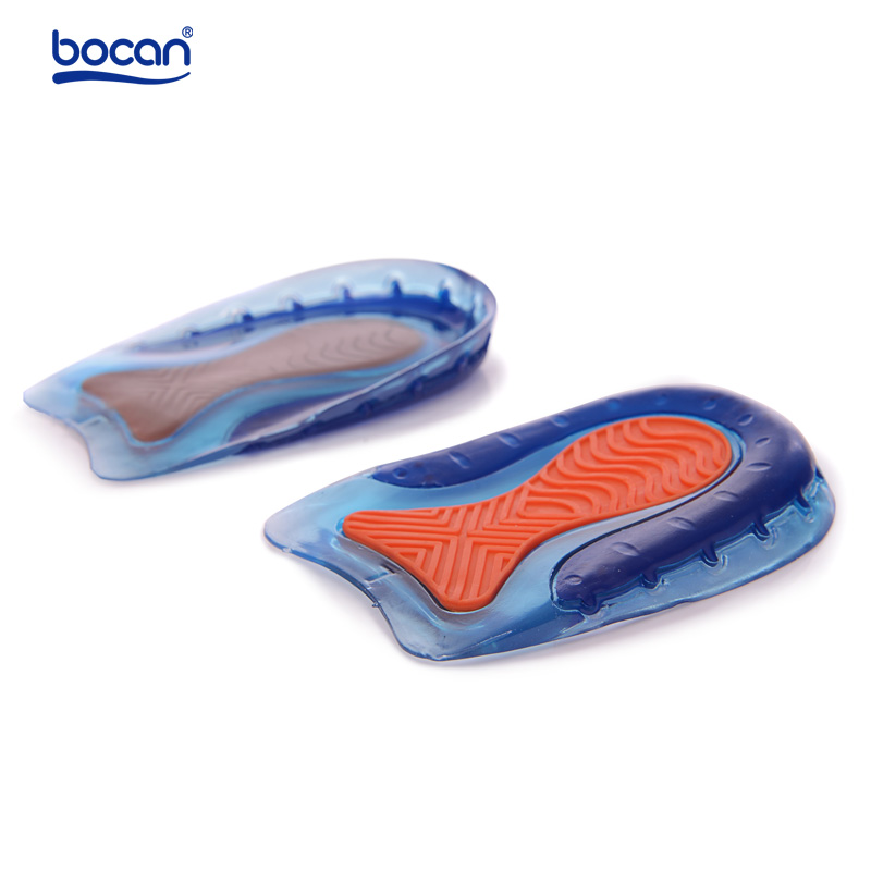 Heel Spur Insoles Soft Rubber Gel Foot Pain Relieve <font><b>Cup</b></font> Shoe Insoles for Plantar Fasciitis Footwear Gel Insole for men and women