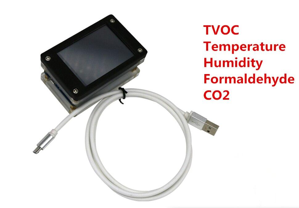 CO2 temperature humidity TVOC Formaldehyde detection sensor module CCS811 five-in-one Integrated display moduleCO2 temperature humidity TVOC Formaldehyde detection sensor module CCS811 five-in-one Integrated display module
