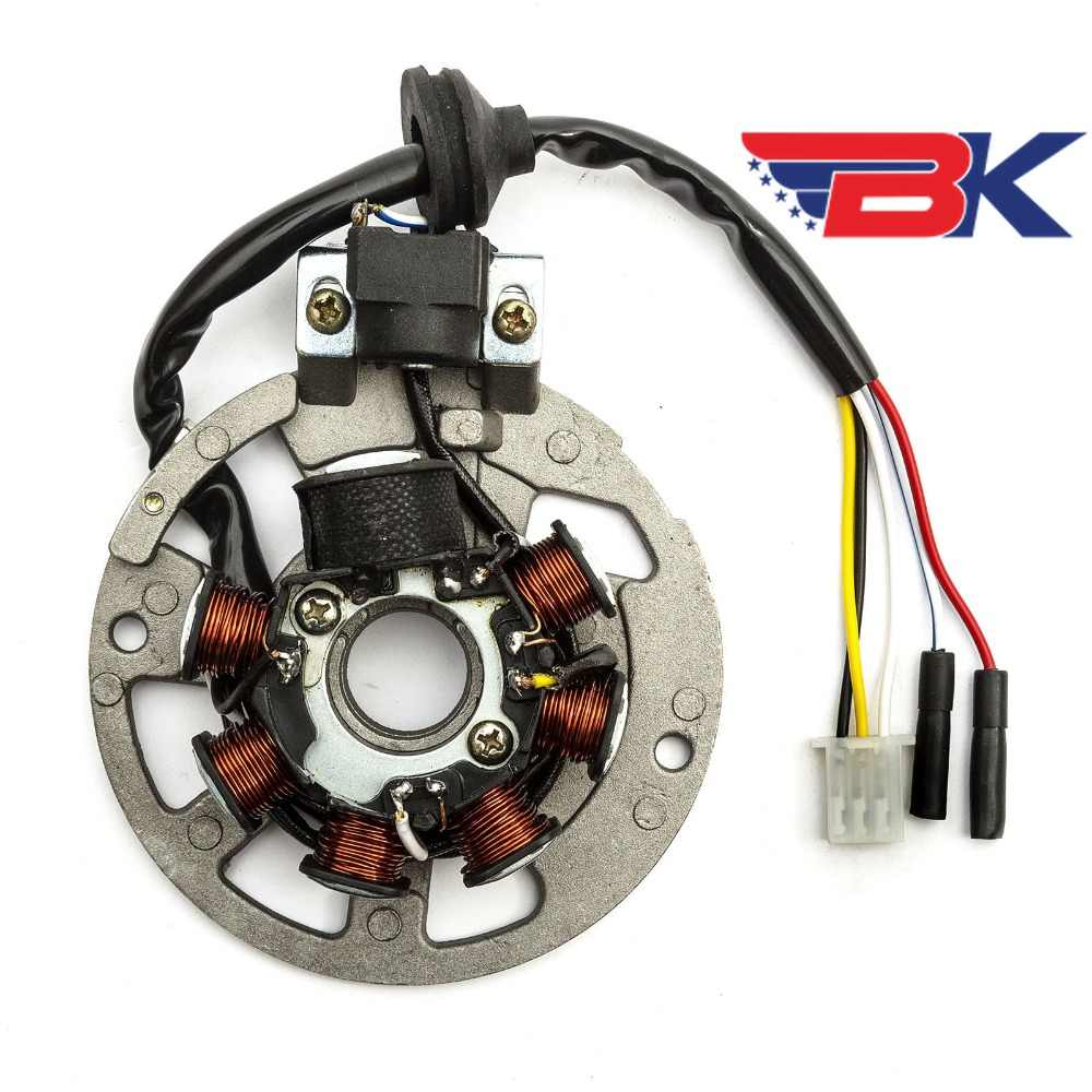 hight resolution of  stator magneto generator 5 wire for 2 stroke scooter yamaha minarelli chinese 50cc 90cc atv buggy