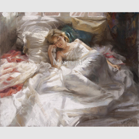 Hand painted Oil Painting Vicente Romero Redondo Abstract painting on canvas woman art modern impressionism Living room decor