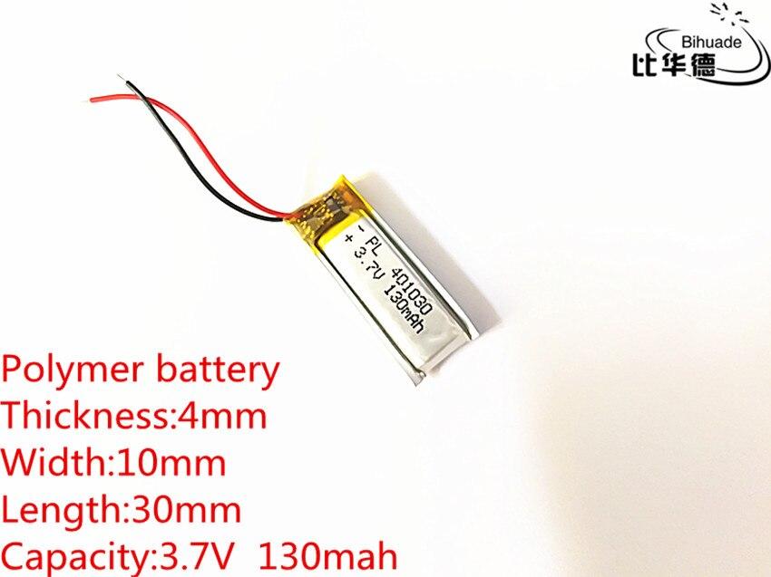 3.7V,130mAH,401030 PLIB; polymer lithium ion / Li-ion battery for GPS,mp3,mp4,mp5,dvd,bluetooth,model toy mobile bluetooth