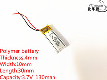 3.7V,130mAH,401030 PLIB; polymer lithium ion / Li-ion battery for GPS,mp3,mp4,mp5,dvd,bluetooth,model toy mobile bluetooth