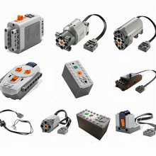 Lepin Motors Train Technic Series Power Motor Oplaadbare Batterijbox IR Remote Receiver LED Light Bouwsteenbaksteen