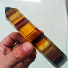 100/140mm Natural stone fluorite crystal wand point feng shui harness stones and chakra healing crystals