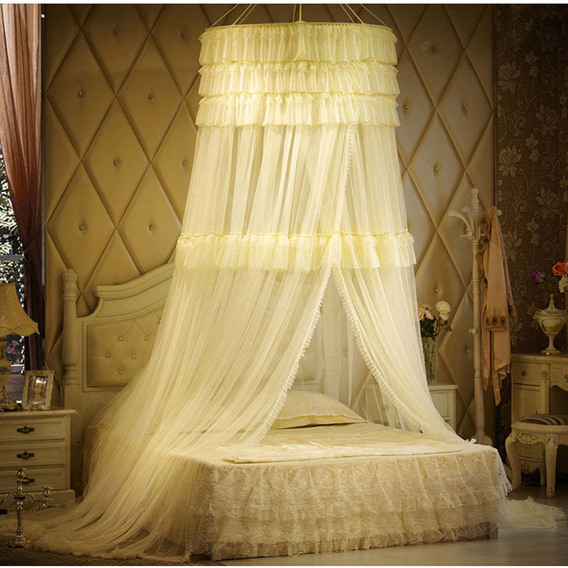 Free Shipping Suspended Bed Nets Princess 1.8m Bed Double Round Round 1.5m  Suction Plate