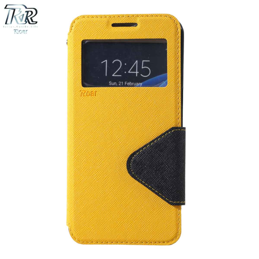 For Samsung Note3 Case.Roar Korea Fancy Diary View Window Flip Leather Stand Cover Case For Samsung Galaxy Note 3 N9000 N9005