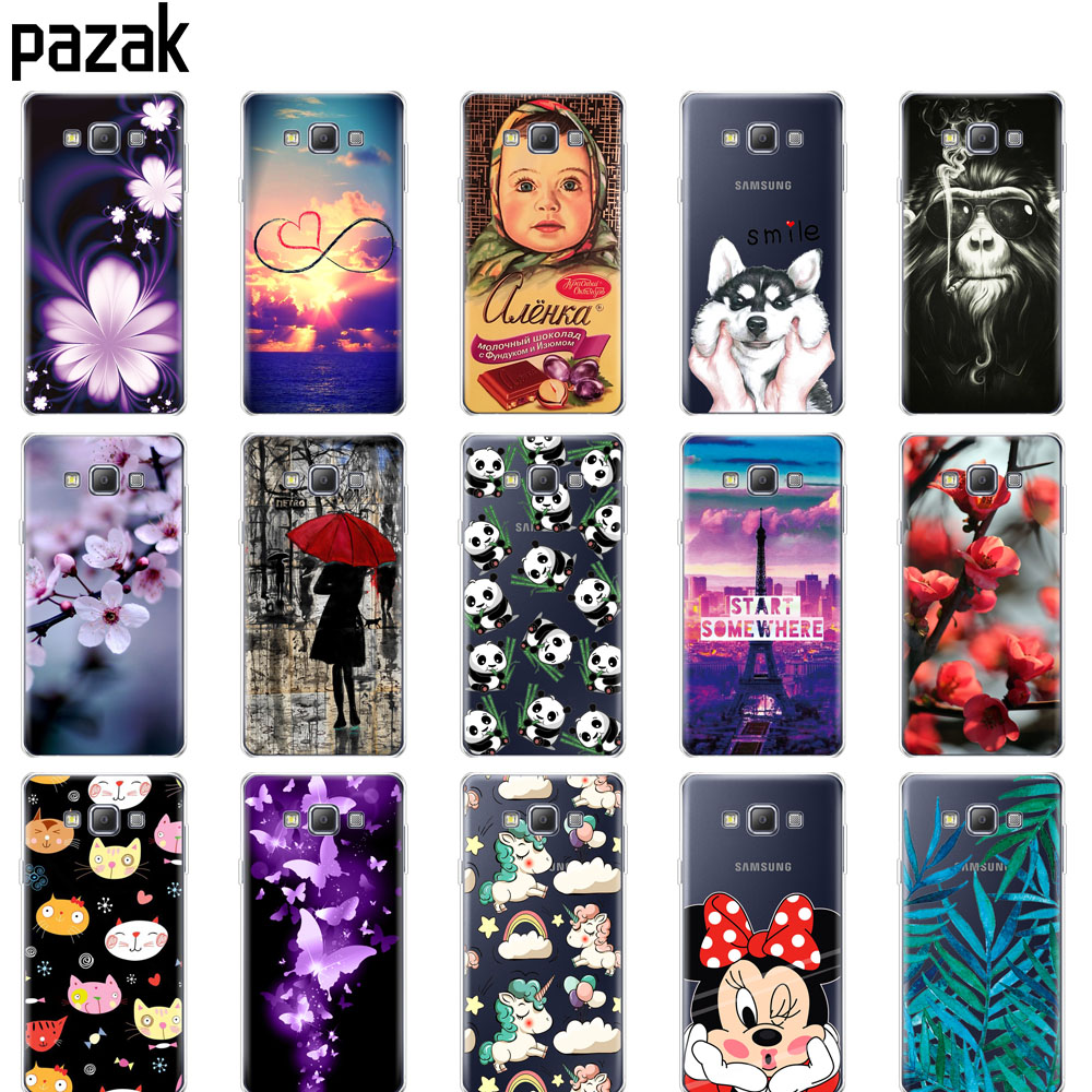 Silicone Case For Samsung Galaxy A3 2015 A300 A300F Phone Case Soft TPU Cover For Samsung A3 2015 A300 Protective Printing Coque