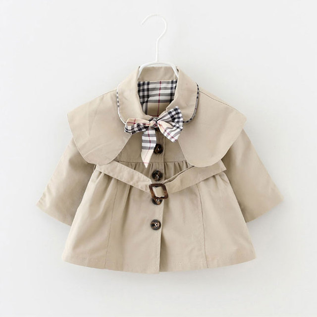 2016 bebé recién nacido ropa infantil del bebé chicas cazadora de manga larga chaqueta de la capa