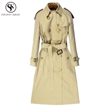Autumn New England Style trench coat for women Classic Turn-