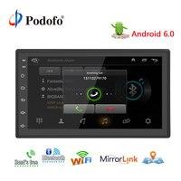 Podofo 7 Универсальный 2 din Автомобильный Радио gps android стерео аудио автомобильный мультимедийный плеер Bluetooth USB 1 г DDR3 + 16g памяти NAND Flash