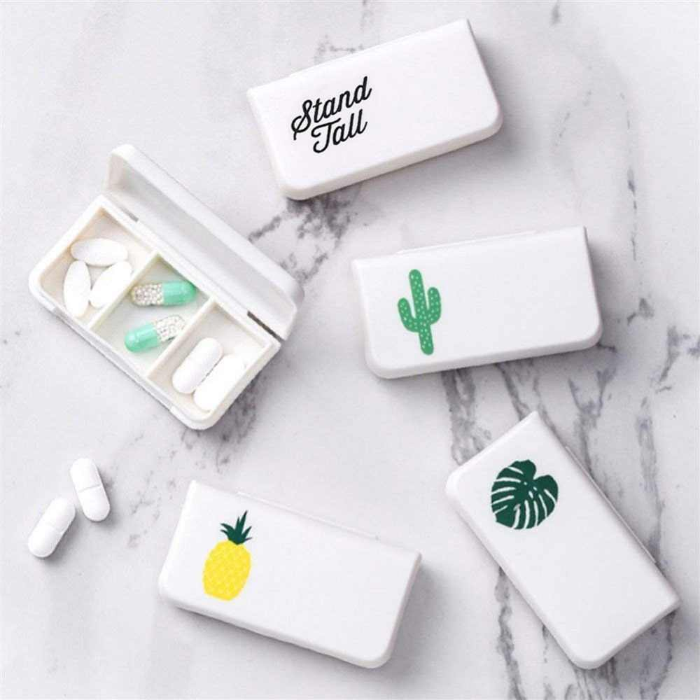3 Grids Portable Pill Medicine Box Holder Storage Organizer Container Case Pill Box Splitters
