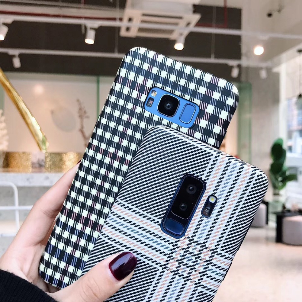 For samsung galaxy s9 plus s8 plus note 9 8 case cover Retro 3d Grid pattern soft silicon protective phone bag Ritozcase