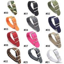 Bracelet de montre Zulu NATO, 1 pièce, 18 20 22 24mm, armée kaki, militaire, tissu en Nylon tissé, boucle, ceinture, accessoire