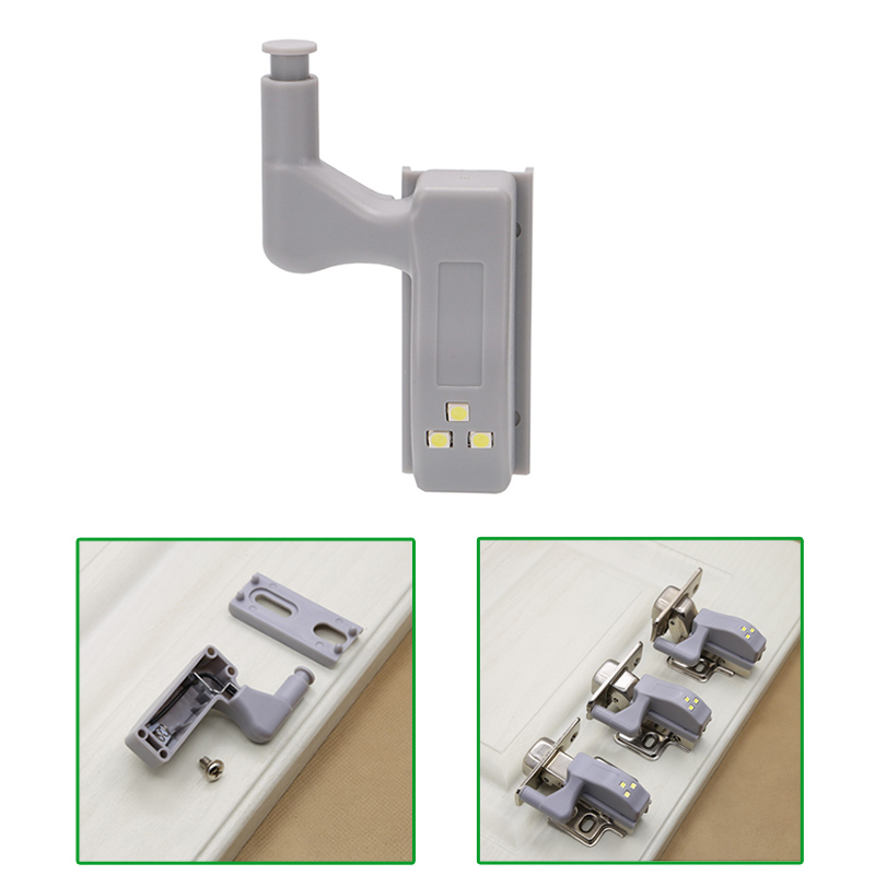 2/4/6 Pcs Inner Hinge LED Sensor Light Battery Operated Night Lights for Cabinet Closet Wardrobe @8 JDH99
