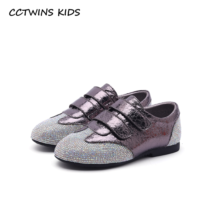 CCTWINS KIDS 2018 Fashion New Autumn Baby Girl Rhinestone Casual Shoe  Children Pu Leathe Trainer Boy 91ca78b2fd3a
