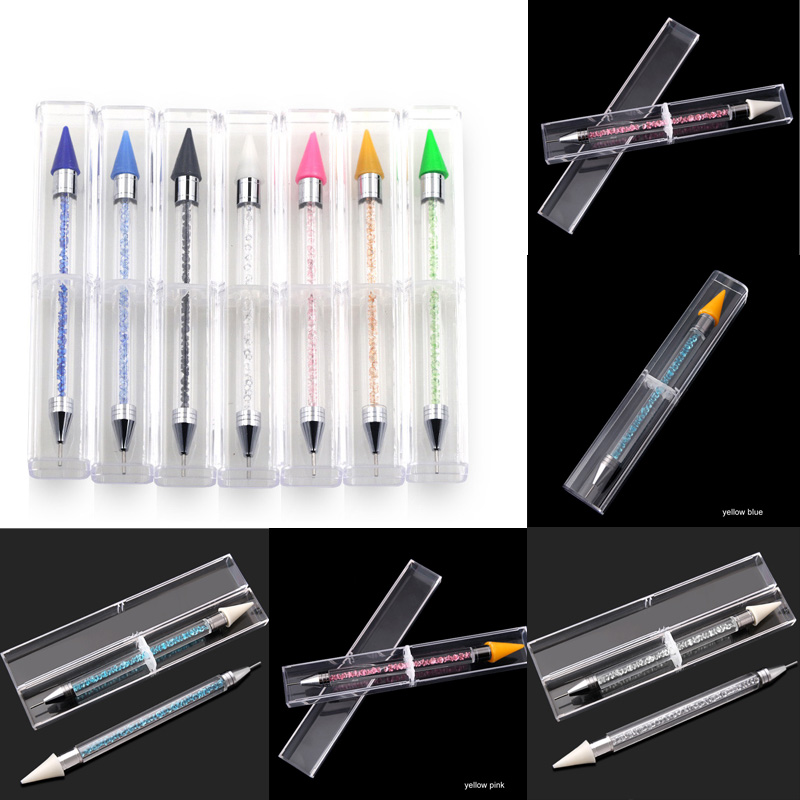 Pen Tools DIY Diamond Painting Point Drill Pen Rhinestones Mosaic Pictures Double Head Nail Art By Numbers Diamond Embroidery(China)