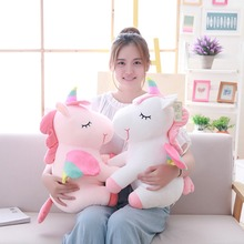 New Soft Rainbow Unicorn Plush Toy Adorable Stuffed Animal Toys Brand For Children Christmas Gift