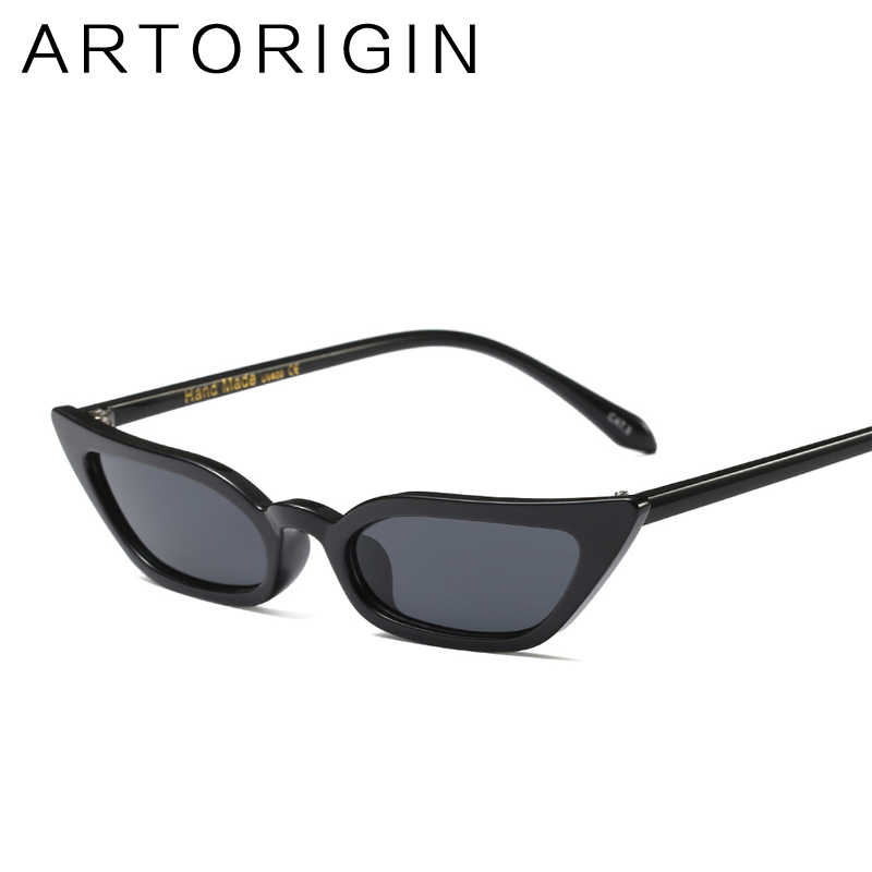 54a4c89c5e ... ARTORIGIN Narrow Sexy Cat Eye Sunglasses Women Small Size Candy Color  Sun Glasses lunette de soleil ...