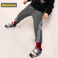 Balabala Todder Boy Pull on Joggers with Side Stripe Tab Kids Pull on Sweatpants Sport Pants with Pocket Ribbed Waist and Hem