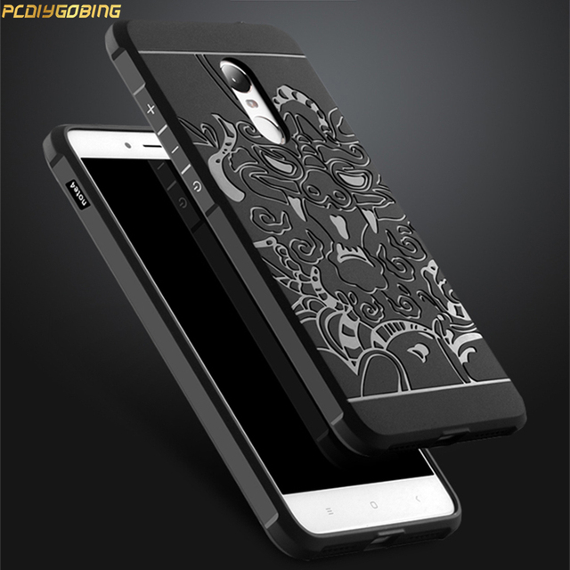 online store 37335 d121c US $5.49 |For Xiaomi Redmi Note 4 Case Fashion Silicone 3D Dragon  Shockproof Original Back Cover for Xiaomi Redmi Note 4 Standard Case-in  Fitted Cases ...