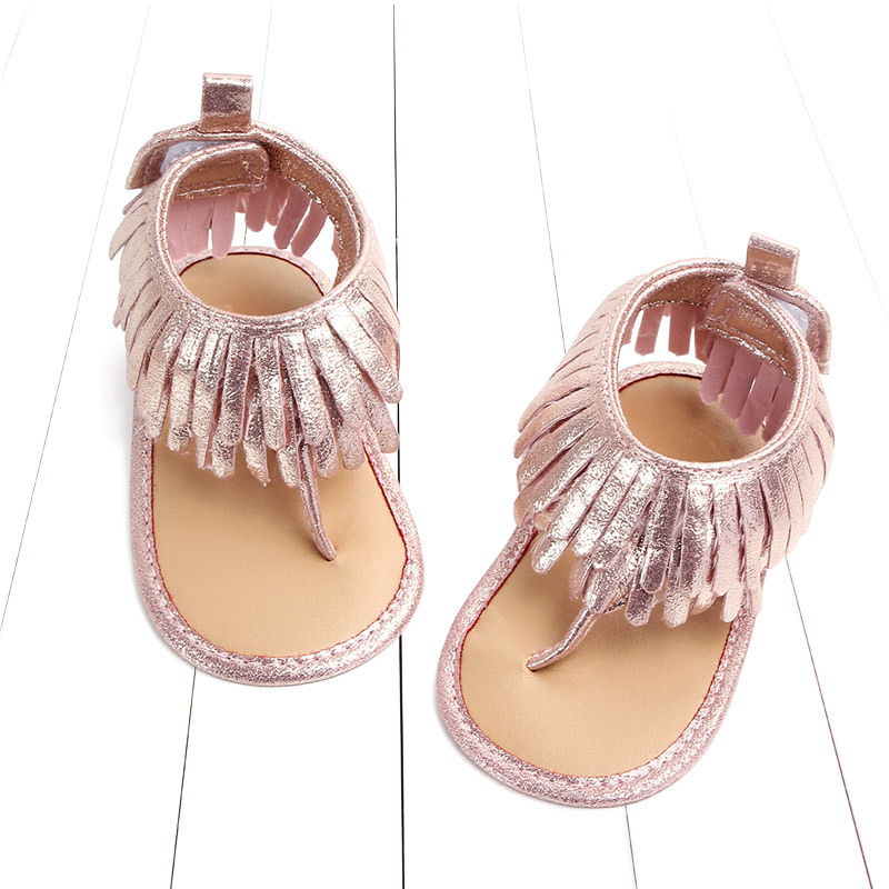 Baby comfortable sandals 2018 summer new boy girls beach shoes kids casual sandals children fashion Baby Girl Tassel Sandals (8)