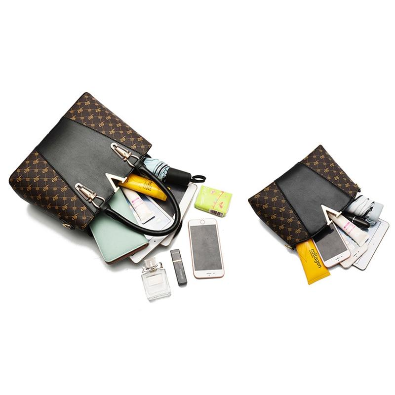 Image 5 - 2 PCS Women Bags Set Leather Handbag New Women Tote Bag Ladies Handbags Shoulder Bag for Women 2018 Luxury Messenger Bag Bolsas-in Top-Handle Bags from Luggage & Bags