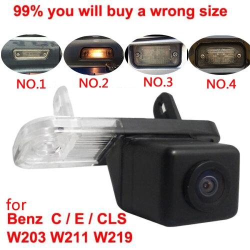 Pour CCD Mercedes Benz Classe C W203 Classe E W211 CLS Classe W219 300 Inverse de voiture vue arrière caméra arrière up