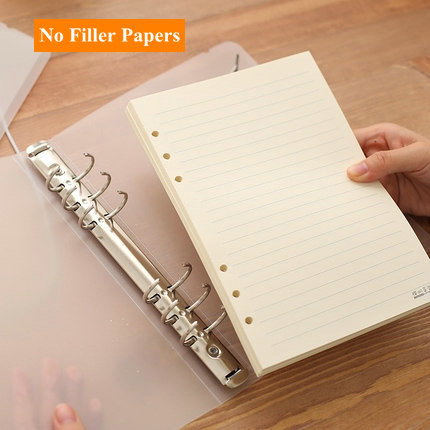 DIY Spiral Notebook Cover A5 Ring Binder A6 Cover Transparent PP - notebook binder