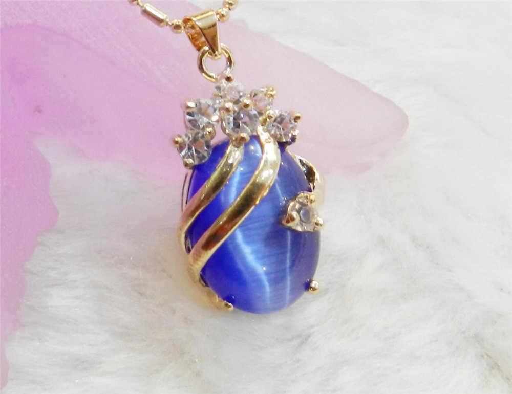 Темно-синий изысканной золотистой цветов по 13x18 мм овальные мексиканский опал драгоценные камни, подвеска, ожерелье