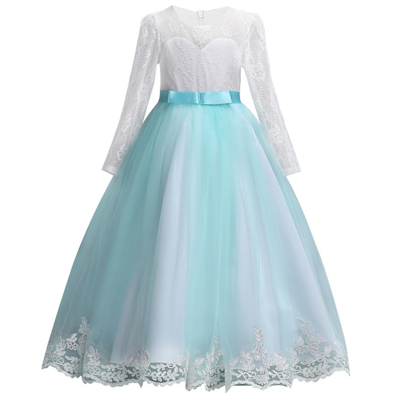 Girls Dresses Long Sleeve Lace High Grade Christmas Dress Kids Clothes Wedding Party Dress For Girl Children Princess Dress dresses for girls high quality children dress long sleeve kids clothes summer dress flower girls dresses for party and wedding