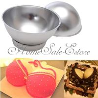 2016 Household Convenient Tools 3D Sport Aluminum Ball Sphere Cake Pan Baking Mold Bakeware Tin Kitchen
