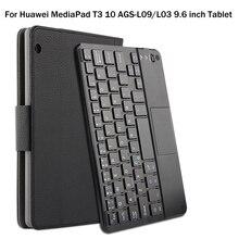 Coque magnétique détachable pour tablette de AGS L09 pouces, pour Huawei MediaPad T3 10 9.6/L03, coque avec clavier ABS Bluetooth