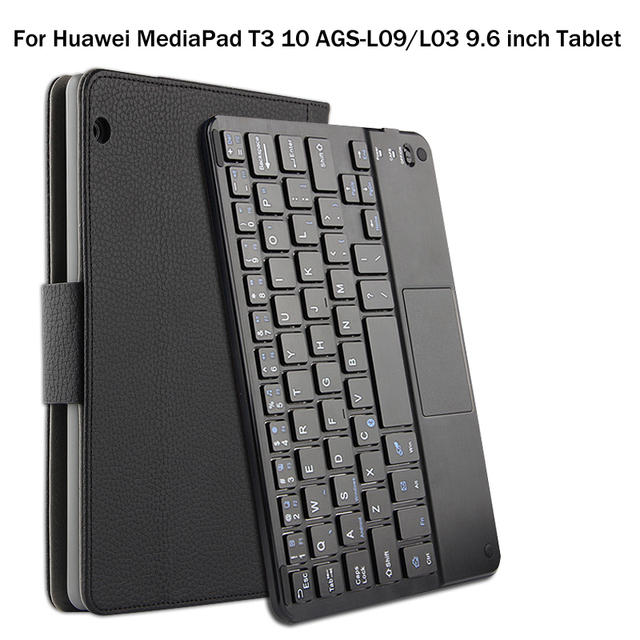 Estojo para huawei mediapad t3 10 AGS L09/l03 9.6 polegada tablet magneticamente destacável abs bluetooth teclado capa