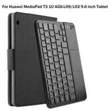 Pokrowiec na Huawei MediaPad T3 10 AGS L09/L03 9.6 cala Tablet magnetycznie odłączany ABS klawiatura Bluetooth skrzynki pokrywa