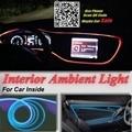 For TOYOTA Yaris XP150 1999-2013 Car Interior Ambient Light Panel illumination For Car Inside Cool Strip Light Optic Fiber Band