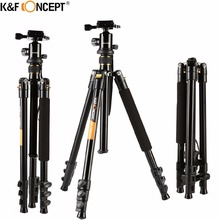 K&F CONCEPT 62″ Lightweight Foldable Travel Camera Tripod To Monopod with Ball Head+Shoulder Bag+PE Bag For Canon Nikon Sony SLR