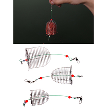 OOTDTY 1PC Small Bait Cage Fishing Trap Basket Feeder Holder Tackle Accessory Tool